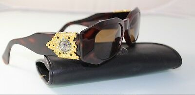 3adc5f7a88a Rare Vintage GIANNI VERSACE Sunglasses MOD 414 H COL 90A Case blue crystals