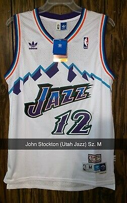 aebe67bf3a1 NWT JOHN STOCKTON  12 NBA Utah Jazz Swingman Throwback Jersey Purple ...