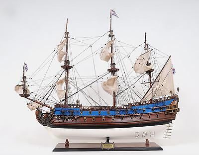 """Goto  Predestination Painted FULLY ASSEMBLED Wooden Model Ship 37"""" Long"""