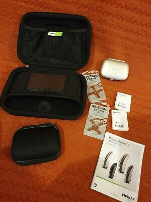 Phonak Large and small case cerusrop wax guard batteries and audeo b instruction
