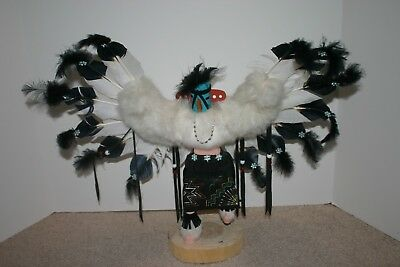 Beautiful Native American Indian Eagle Kachina Doll Signed V. Chiquito
