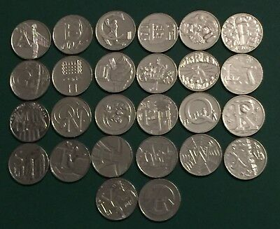 2018 new  A-Z 10p Coins  Alphabet choose the letter UNC / Album / Capsule+ Foam