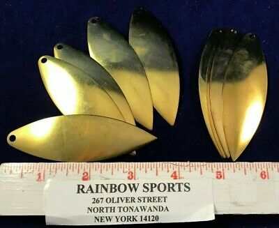 10 WORM HARNESS SPINNER BAIT BLADE WILLOW LEAF #4 SMOOTH COPPER WALLEYE