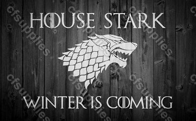 Game of Thrones  STARK Melinex AIRBRUSH STENCIL 190 micron A5/A4 reusable