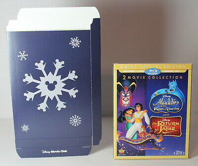Disney Aladdin 2 3 King of Thieves / Return of Jafar Blu Ray DVD Digital w BOX