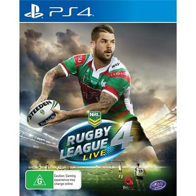 NRL Rugby League Live 4 PlayStation 4 PS4 GAME BRAND NEW FREE POSTAGE