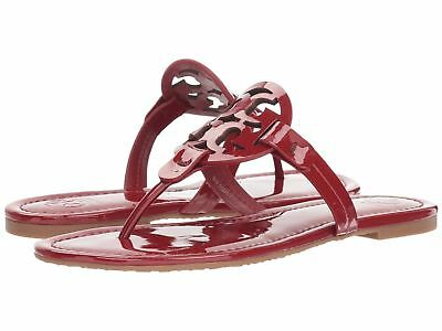 f781ddabed2b NIB TORY BURCH Miller Medallion Patent Leather Flat Thong Sandals ...