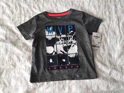 NWT OshKosh B'Gosh Baby Boy Athletic MVP Shirt 6 Months Graphic
