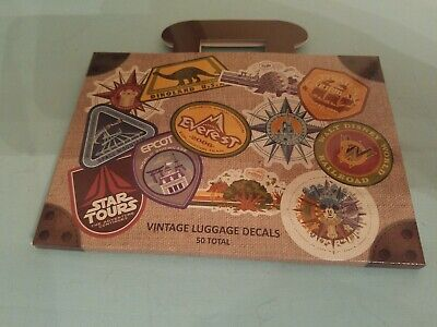 Walt Disney World Passport Vintage Luggage 50 Decals Stickers Disney Parks NEW