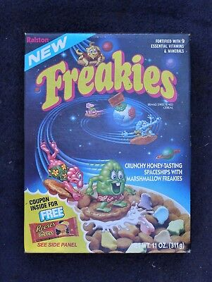 RARE! Set of 7 Ralston 1974 FACTORY New Freakies Cereal Box Premium Cars
