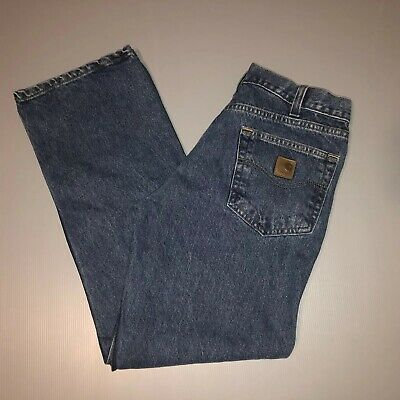 5aab39acd7a CARHARTT B460 DPS Relaxed Fit Blue Jeans Mens Size 44 x 34 - M1051 ...