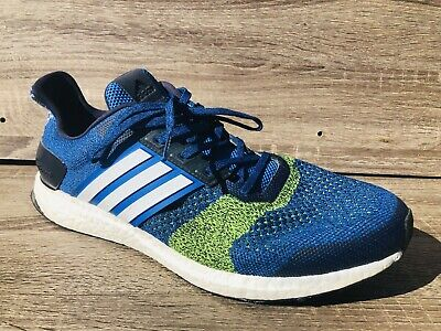 f8678b51f5aba Men s ULTRA BOOST ST Running Shoes Sneakers Blue White Green SIZE 12 D
