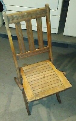 6 vtg Heywood Wakefield single seat Folding Chairs Art Deco