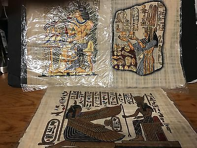 3 Egypt Telephone Papyrus Gallery Egyptian Images 18 in Wide Cool with Cert LOOK