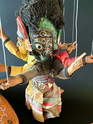 Old Ganesh Four Faced Puppet …beautiful collection & display piece