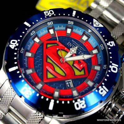Men's Invicta DC Comics Superman Coalition Forces Automatic Steel 52mm Watch New