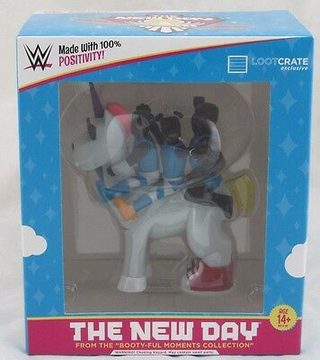 WWE The New Day Slam Crate Exclusive Unicorn Vinyl Figuren Booty-Ful Moments Collection
