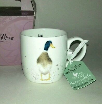 Royal Worcester Fine Bone China Wrendale Designs Guard Duck Tea Coffee Mug