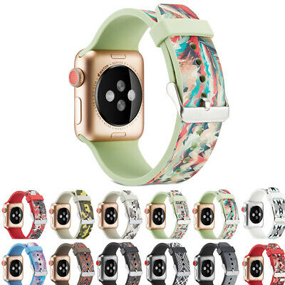 38/40/42/44mm Bracelet Watch Band Wrist Strap Silicone For Apple iPhone Watch