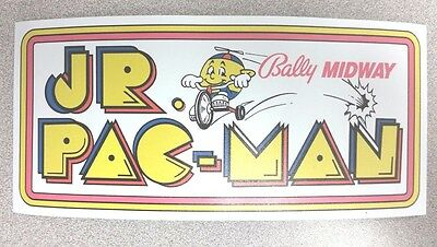 Jr. Pac Man side cabinet sticker. 4 x 8.5. (Buy any 3 stickers, GET ONE FREE!)
