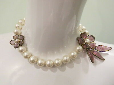 40e431dcc AUTHENTIC VINTAGE CHANEL Gripoix Glass and Pearl Necklace - $790.00 ...