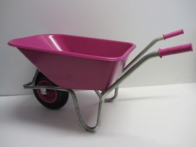 100Ltr H/Duty Pink Wheelbarrow Ideal for Gardeners, Equestrian use