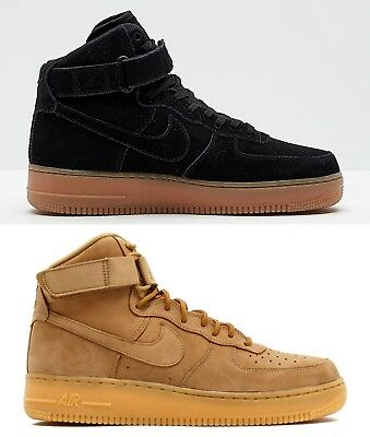 huge selection of 7049c 030fa NEW Nike Air Force 1 HIGH 07 LV8 Suede Black Gum AA1118-001