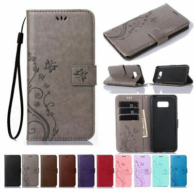 For Samsung Galaxy S10 S9 S8 Leather Magnetic Flip Stand Card Wallet Case Cover