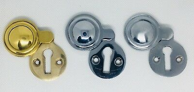 Covered Escutcheons Keyhole Polished Chrome Polished Brass Satin Chrome