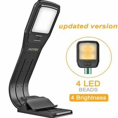 Book Light Reading Lamp USB Rechargeable Clip Lights Eye Care Flexible LEDs