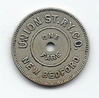 transit token New Bedford, Massachusetts Union Street Railway Company MA550O