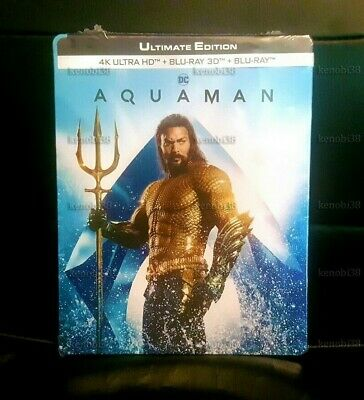 Aquaman Blu-Ray Steelbook 4K Uhd + 3D + 2D [France]