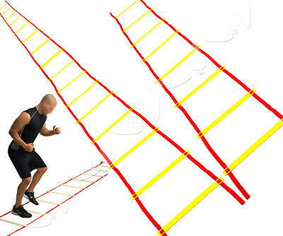 4m/8m Training Agility Speed Ladder Set In/Outdoor Fitness Coaching Football Set