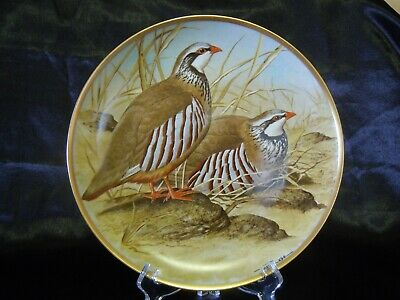 Assiette collection Gamebirds Oiseaux HAVILAND FRANKLIN LIMOGES Perdrix rouge