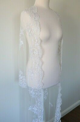 Brand New Beautiful Sheer Lace White Bridal Bride Bridesmaid Wedding Robe Gown