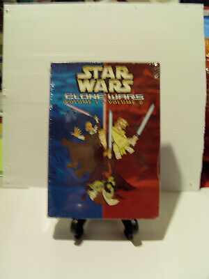 Star Wars The Clone Wars Coffret 2 Dvd Rare Volume 1 Et 2 Neuf Sous Blister