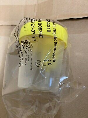 Greiner Bio One Urine Beaker With Integrated Transfer Device 724310. Case Of 200
