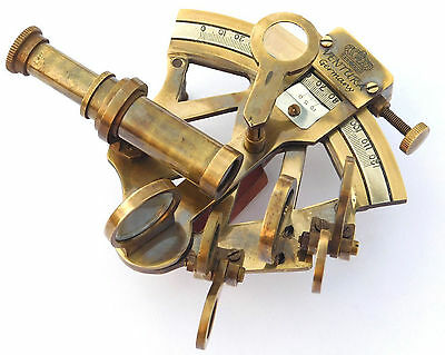Solid Brass Sextant Nautical Maritime Astrolabe Marine Gift Ships Instrument 4""