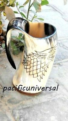 Game Of Thrones Stark Sigil Wolf Viking-Drinking Horn Mug Cup Beer Wine Mead