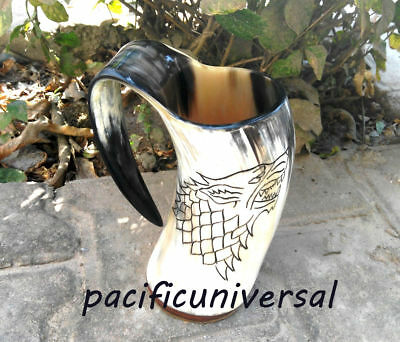 Game Of Thrones Stark Sigil Wolf Viking-Drinking Horn Mug Cup Beer Wine Gift