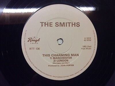 """THE SMITHS / MORRISSEY THIS CHARMING MAN 12"""" Rough Trade Label Variant"""
