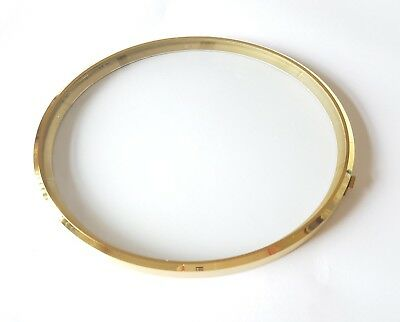 Brass Clock Bezel and Glass 172/167mm German Made Quality