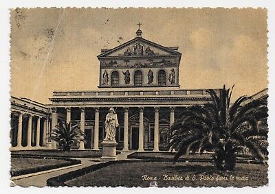 Vintage Postcard - The Basilica of St. Pauls, Rome, Italy