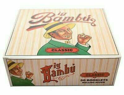 Half Box Big Bambu Classic 25 Booklet Packs  Rolling Papers