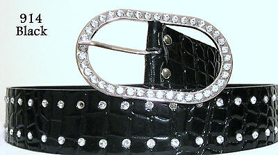 Chic & Sexy Bling Belt Size Black Large.