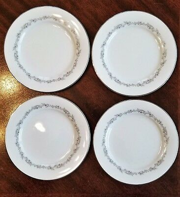Lot of 4 - Noritake China CRESTMONT # 6013 Bread & Butter Plates - 6 1/4""