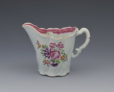 First Period Worcester Porcelain Polychrome High Chelsea Ewer Jug c.1775