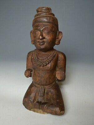 Good antique Balinese hard wood Hindu temple figure Krishna  Shiva