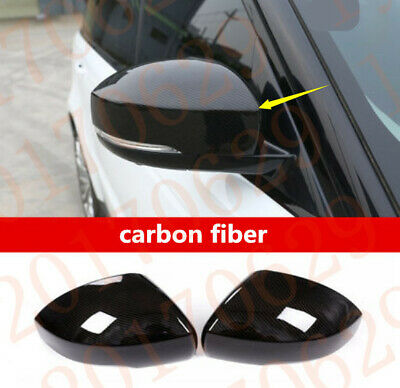 2x carbon fiber Side Rearview mirror Cover Trim For Range Rover Sport 2014-2019