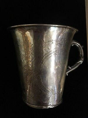 Old Sterling Silver Cup ( around The 1700's)